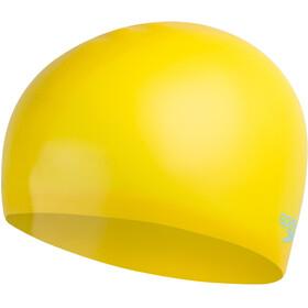 speedo Plain Moulded Gorro de silicona Niños, amarillo